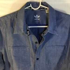 Men's adidas button up cotton blend shirt